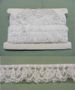 Gathered White Lace 9 metres (188)
