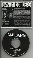 DAVID DONDERO Rothko Chapel PROMO DJ CD single 2007