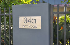 Stainless Steel House Number Sign Marine Grade Stainless Laser Cut Custom