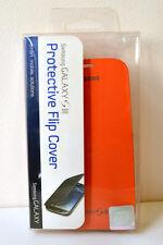 Samsung Marca Original Funda con Tapa Tipo Libro para Galaxy S3 - Naranja