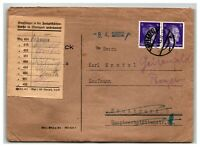 Germany 1943 Cover / Re-Directed / Zuruck / Signed Postal Slip - Z13869