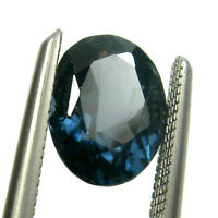 0.97 carat Oval 7x5mm Fancy Deep Blue Natural Australian Sapphire Gemstone