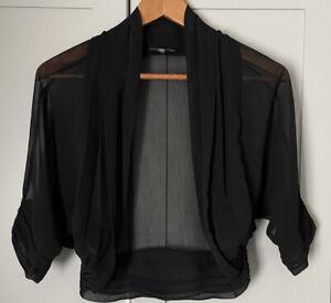 Alexon Women's Black Sheer Ruched Shrug Size 10