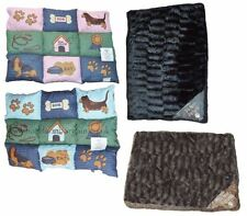 New Dog Bed Pet Pad Mattress Quilt Filled Removable Zip Fur Cover/Printed