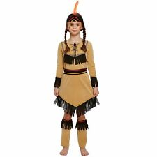 Girls American Red Indian Costume Fancy Dress Age 4-6  World Book Day Pocahontas
