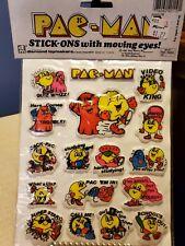 Pac Man Puffy Stickers 1982
