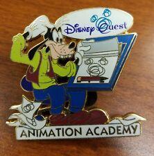GOOFY ART ANIMATION ACADEMY DISNEY PIN quest mickey ears paper pen board easel