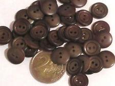 LOISIR CREATIF LOT 10 BOUTONS PLASTIQUE ROND MARRON 14mm COUTURE N°18