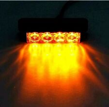UK 4 LED Car Truck Emergency Recovery Warning Flash Strobe Light Lamp Bulb Amber
