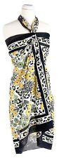 NWT VERA BRADLEY GO WILD SARONG swimsuit COVERUP - Beach Scarf  Yellow Leopard