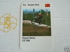 23 MOTO-CROSS 6D USSR VISENT DINIS CZ 250 KWARTET KAART, QUARTETT CARD,