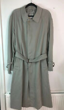 Men's AQUASCUTUM Trench Coat Size 40R Grey EX COND