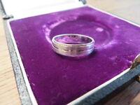 Unisex 925 Silber Ring Designer Modern Schlicht Glänzend Matt Platin Optik