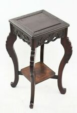 More details for antique chinese carved rosewood display stand side table-[ pl-3282 r ]