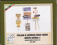 MODEL VICTORIA 4059 - ITALIAN & GERMAN ROAD SIGNS NORTH AFRICA 1 1/35 - NUOVO