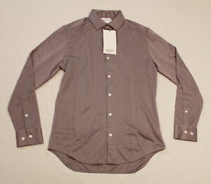 Ministry Of Supply Men's Apollo Long-Sleeve Dress Shirt KT4 Grey Small Slim NWT