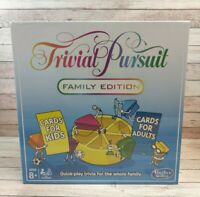 Hasbro Trivial Pursuit Family Edition Board Game  NEW/BOXED/SEALED Kids/Adults
