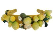 DOLCE & GABBANA Diadem Headband Yellow Sicily Lemon Crystal Floral RRP $1900