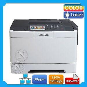 Lexmark CS510DE Color Laser Network Printer+Auto Duplex 30ppm MAC/PC Compatible