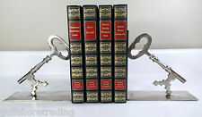 Brass Skeleton Key Bookends metal decor gothic steampunk
