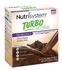 NUTRI SYSTEM TURBO Probiotics Chocolate Shake Mix 5 packets