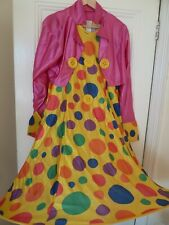 Wicked Costumes Clown Fancy Dress Costume Halloween - size Large