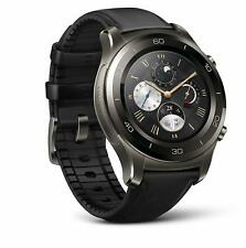 Huawei Watch 2 Classic Smartwatch - Ceramic Bezel, Black Leather Strap - NEW