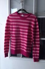 Circo Girl's Size XL Crewneck Sweater, Pink Multicolor Striped
