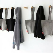 Wooden Clothes Hanger Wall Mounted Coat Hook Decorative Hat Holder  Home Decor