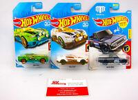 Hot Wheels: Daredevils: Rally Cat (White & Green) , Mazda Repu - Qty 3 | NEW