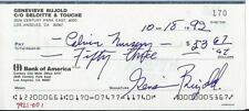 Genevieve Bujold Signed Check Autographed Rare Business Account Anne Boleyn 1992