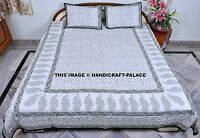 INDIAN ETHNIC PRINT BEDDING DOUBLE DUVET SET NEW BED COVER SET WITH PILLOW COVER