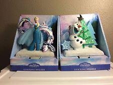 Disney FROZEN Olaf & Elsa Christmas Stocking Holders/Hangers - New For 2015