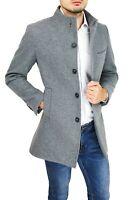 Cappotto soprabito uomo Diamond invernale grigio slim fit elegante collo coreano