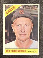 1966 Topps Red Schoendienst #76 VG-EX St. Louis Cardinals