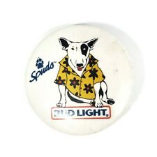 "Vintage Spuds MacKenzie Bud Light 1.5"" Advertising Pin Button Pinback 1987"