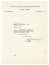 WILLIAM HARRIDGE - TYPED LETTER SIGNED 09/17/1952