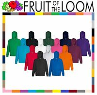FRUIT OF THE LOOM LIGHTWEIGHT HOODED SWEAT TOP HOODIE SWEATER JUMPER