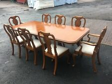 BEVAN FUNNELL REPRODUX 8ft WALNUT EXTENDING DINING TABLE & 8 CHAIRS ~~ DELIVERY