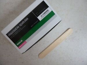 SALON SERVICES - Wooden Disposable Spatulas - NEW