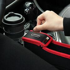 Car Auto Seat Storage Box Catcher Gap Filler Collector Cup Holder Passenger Side