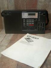 Sony ICF-2001 Synthesized Receiver Radio