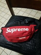 Supreme Red waist Bag Fanny Pack Fast Shipping - used
