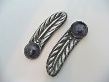 2~William Spratling Sterling Amethyst Feather Clip Pins