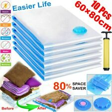 Strong Vacuum Storage Bags Space Saving Compressed Bag Vaccum Pack Saver 10 Pack