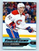 2016-17 Upper Deck Young Guns Artturi Lehkonen RC #232