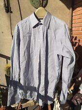 T M LEWIN Jeremy Street T 42 16,5 Algodon Camisa  T-L PUÑO GEMELO