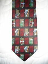 New Men's Burgundy & Black Wine and Chef Instruments Tie
