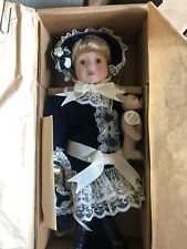 "Boyds Yesterdays Child 12"" PRISCILLA & WILLIAM, Porcelain Doll & Teddy, #4815"