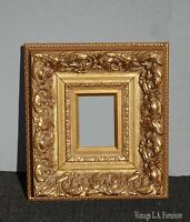 Vintage French Provincial Ornately Carved Gold Picture Frame